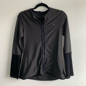 Puma fitted black active jacket